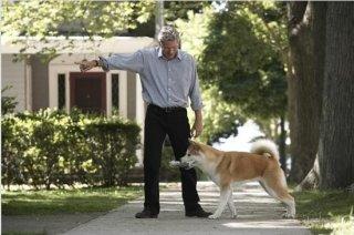 Richard Gere e il cane Hachi nel film Hachiko