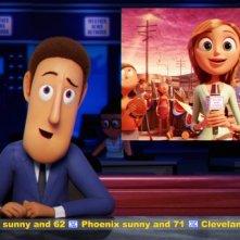 Un'immagine realistica del film Piovono polpette