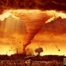 Una scena apocalittica del film Piovono polpette