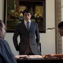 Claudia Pandolfi, Valerio Mastandrea e Paolo Ruffini in una scena de La prima cosa bella