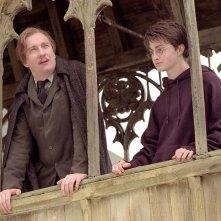 David Thewlis con Daniel Radcliffe in una scena di Harry Potter e il prigioniero di Azkaban, 2004