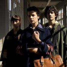 Giulia Burgalassi, Micaela Ramazzotti e Francesco Rapalino in una scena de La prima cosa bella