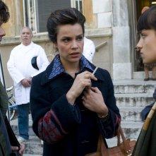 Micaela Ramazzotti, Francesco Rapalino e Giulia Burgalassi in un'immagine de La prima cosa bella