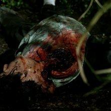 Una truculenta immagine di Joel Murray nell'horror Hatchet