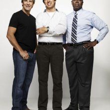 Ray Romano, Scott Bakula e Andre Braugher in una foto promozionale della serie Men of a Certain Age