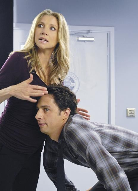Scrubs Sarah Chalke E Zach Braff Nell Episodio Our First Day Of School 141851