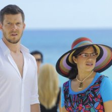 Ugly Betty: Eric Mabius ed America Ferrera  nell'episodio The Bahamas Triangle