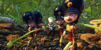 Un'immagine di alcuni personaggi del mondo dei Minimei dal film Arthur e la vendetta di Maltazard