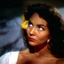 Jennifer Jones in una scena di Duello al Sole.