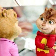 Alvin e Brittany in un'immagine tratta dal film Alvin Superstar 2