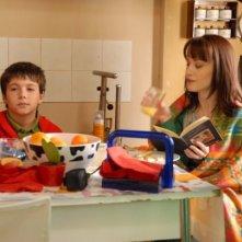 Crisula Stafida e Luca Gaggiano sul set di Quando si diventa grandi