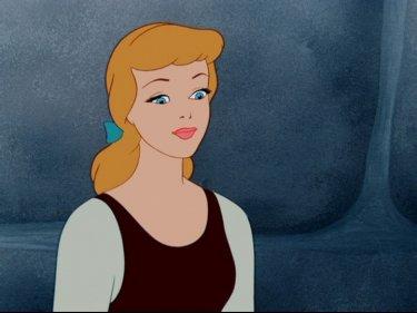 La protagonista in una scena del film d'animazione Cenerentola
