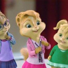 Le Chipette in un'immagine tratta dal film Alvin Superstar 2