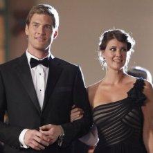 Chuck: Ryan McPartlin e Sarah Lancaster nell'episodio Chuck Vs. The Angel de la Muerte