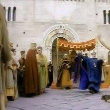 Ettore Bassi nudo in una scena di Chiara e Francesco