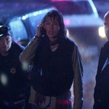 Milla Jovovich e Will Patton in una scena del film Il quarto tipo