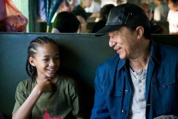 Jaden Smith e Jackie Chan in un'immagine del remake di Karate Kid