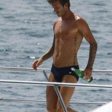 David Beckham in costume da bagno