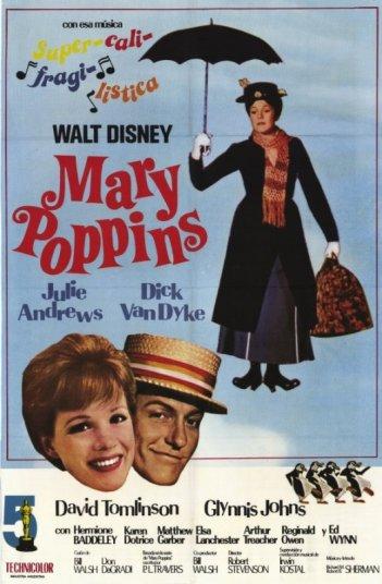 Locandina del film Mary Poppins ( 1964 ) della Disney