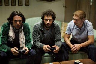 Marco Cocci, Claudio Santamaria e Giorgio Pasotti in una scena del film Baciami ancora