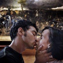 Primo Reggiani e Daniela Piazza in una scena del film Baciami ancora