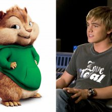 Wallpaper: Jesse McCartney e il suo personaggio Theodore del film Alvin Superstar 2
