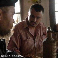 Ilir Jacellari in una scena del film tv L\'uomo della carità - Don Luigi di Liegro.