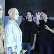 I fratelli registi: Peter e Michael Spierig sul set del film Daybreakers