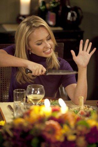 Hayden Panettiere in una scena tratta da Thanksgiving, dalla quarta stagione di Heroes