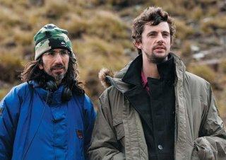 Il regista Anand Tucker e Matthew Goode sul set del film Leap Year