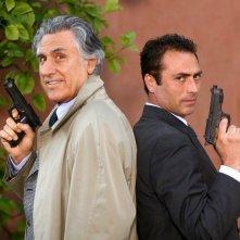 Lando Buzzanca e Sergio Sivori nella serie Io e mio figlio