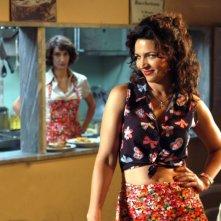 Tosca D'Aquino e Lorenza Indovina in una scena del secondo episodio di Tutti per Bruno