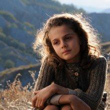 La piccola Greta Zuccheri Montanari protagonista del film L'uomo che verrà