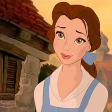 Belle in una scena del film d'animazione La bella e la bestia