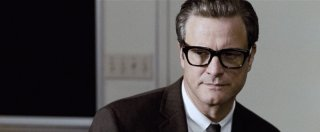Un primo piano di Colin Firth dal film A Single Man di Tom Ford