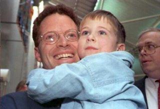 David Rohde con suo figlio