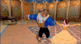 La Bestia e Belle in una celebre scena del film d'animazione La bella e la bestia (1991)