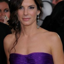 Sandra Bullock, protagonista di The Blind Side, sul tappeto rosso dei 67° Golden Globes (2010)