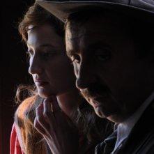 Alba Rohrwacher e Vito in una sequenza de L\'uomo che verrà di Giorgio Diritti.