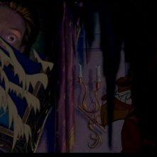 La Bestia in una drammatica scena del film d'animazione La bella e la bestia (1991)