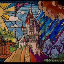 Una bella scena del film d'animazione La bella e la bestia