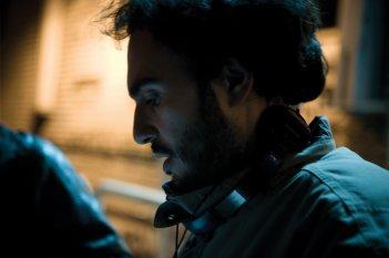 Alessandro Aronadio sul set
