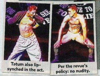 Channing Tatum in versione stripper, prima di diventare celebre, in due scatti pubblicati da un giornale