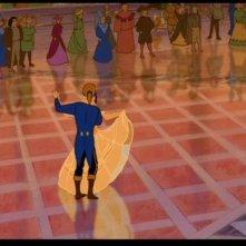 Il principe e Belle in una scena del film d'animazione La bella e la bestia