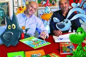 Sergio e Francesco Manfio, creatori di Cuccioli - Il codice di Marco Polo