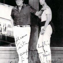 1983, Christian Fassetta e Gino Bramieri durante il G.B. Show 2, fortunato spettacolo registrato al Sistina.
