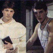 Christian Fassetta in 'Benvenuto tra noi', episodio del telefilm 'Sapore di gloria', nel ruolo di giovane frate e sportivo.