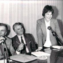 Christian Fassetta (in piedi) con Enzo Tortora.