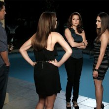 Scott Holroyd, Shantel Vansanten, Bethany Joy Galeotti e Lindsey McKeon nell'episodio Family Affair di One Tree Hill