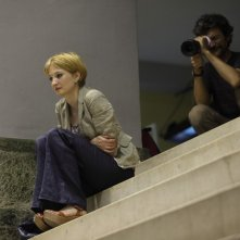 Alba Rohrwacher e Silvio Soldini sul set del film Cosa voglio di più